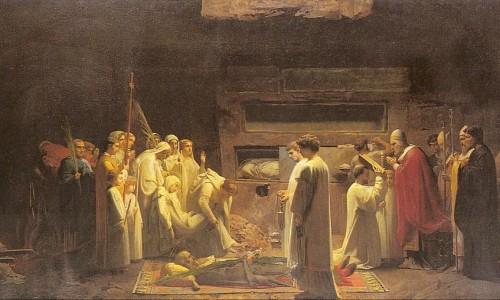 Santos Mártires de Roma (sepultamento de mártires nas catacumbas)