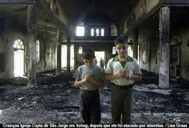 igreja destruida muçulmanos